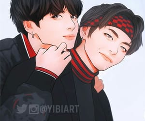 bts, vkook, and taekook image