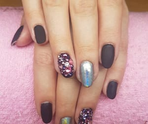 black, cool, and nails image