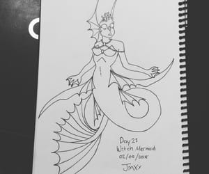ink, mermay, and drawing image