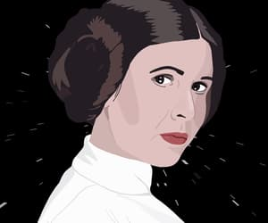 art, carrie fisher, and film image
