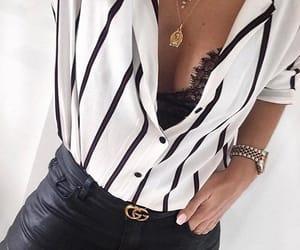 fashion, belt, and black image