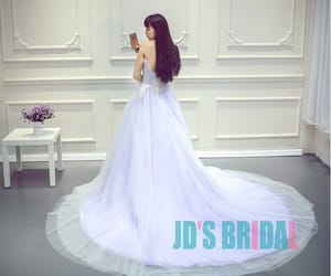 lilac wedding dress, pastel prom gown, and pastel bridal dress image