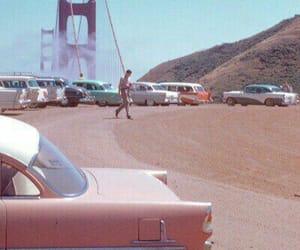 vintage, pink, and car image