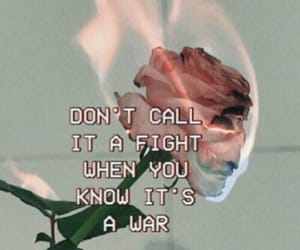 fire, quotes, and rose image