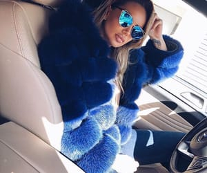 blonde, blue, and fur image