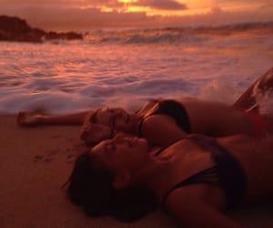 beach, hangout, and ocean image