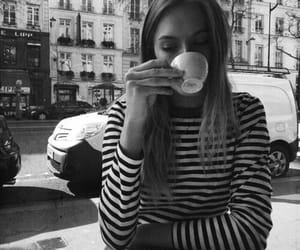 coffee, fashion, and black and white image
