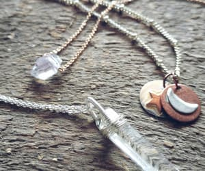 quartz necklace, boho jewelry, and significantbykelle image