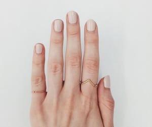 nails, rings, and hand image