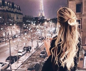 eiffel tower, paris, and girl image