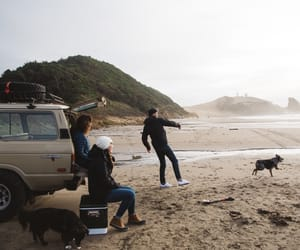beach, friends, and adventure image