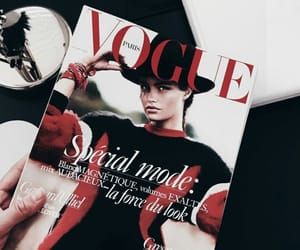 vogue, red, and magazine image