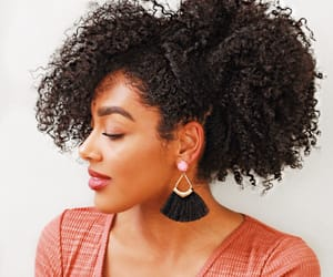 black women, earrings, and natural hair image