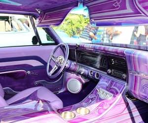 cars, purple, and vintage image