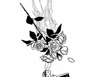 art, fire, and rose image