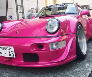 cars, pink, and porshe image