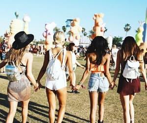 coachella, friendship, and friends image