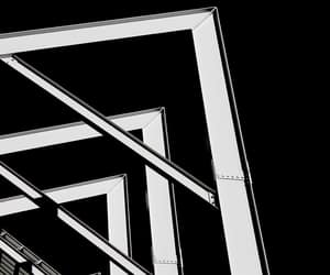 abstract photography, b&w, and triangles image
