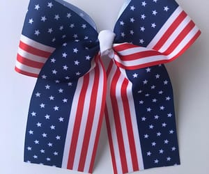 4th of july, hair bow, and hair bows image