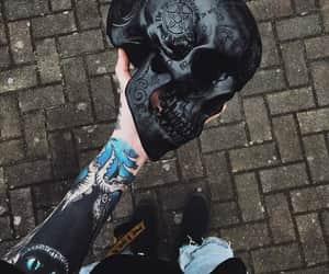 black and skull image