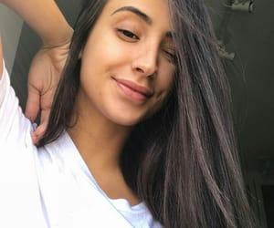 brunette, girl, and br image