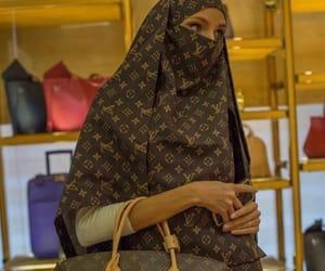 bag, hijab, and LV image