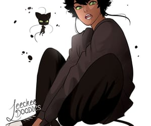 cat, character design, and Chat Noir image