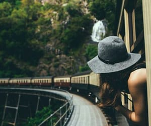 nature, train, and vacation image