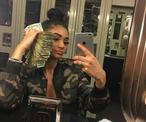 money, girl, and makeup image