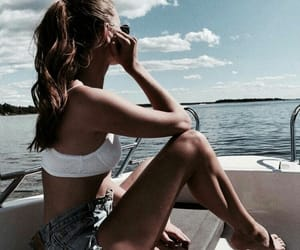 boat, summer vibes, and fashion image