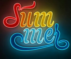 summer, lights, and neon image