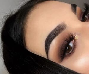 beauty, eye liner, and nails image