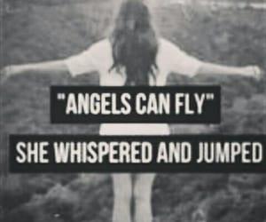 angel, fly, and sad image