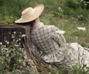 belle epoque, nature, and dress image