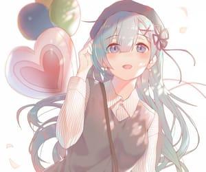 kawaii, anime, and blue hair image