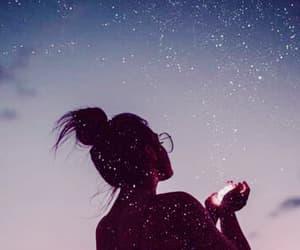 lights, night, and star image