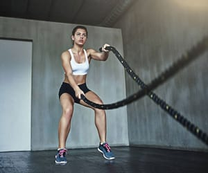 fit, girl, and strong image