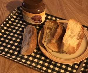bread, food, and plate image