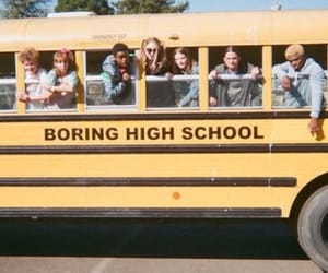 90's, boring, and bus image