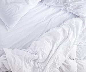 bed, white, and pillow image