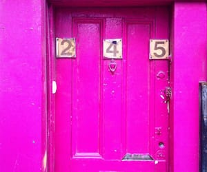 doors, numbers, and pink image