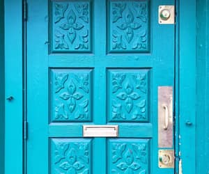 blue, doors, and azúl image