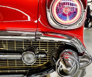 cars, red, and vintage image