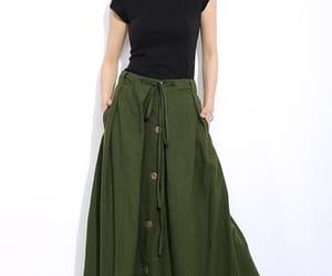 etsy, long skirt, and maxi skirt image