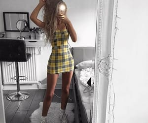 dress, plaid, and fashion image