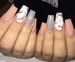 nails, mixed nails, and square nails image