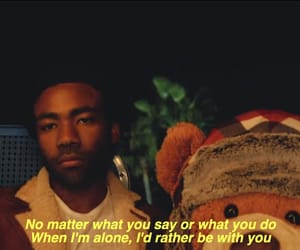 music, Lyrics, and childish gambino image