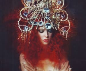 redhead pearl crown, pearl headdress jewels, and dressed to shine image