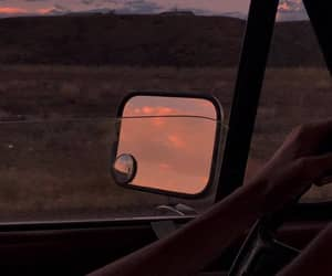 sunset, travel, and car image