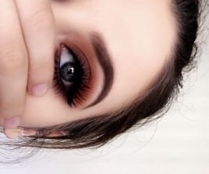 brown, chic, and eyeliner image